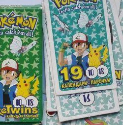 Pokemon Календари Парочки PokeTwins 18 шт