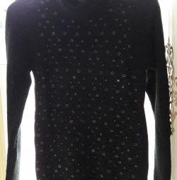 Warm long sweater or dress