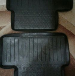 Rubber mats for cars.