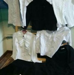 School uniform (132-140-158rost) 32 and 34. Shirt.