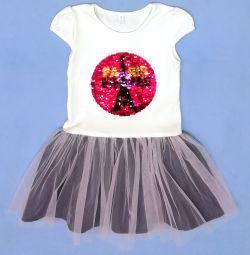 Нове плаття з пишною спідницею з фатину (бавовна)