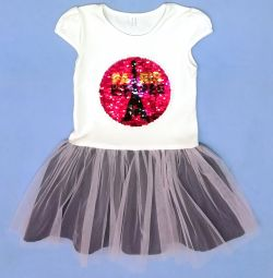 Tül etekli yeni elbise (pamuk)