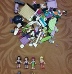 200 LEGO frends parts (+ 4 girls and 2 pets)