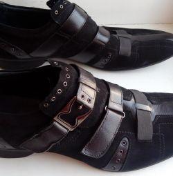 Ayakkabı şık Derksen İtalya, nehir 44-45 deri süet