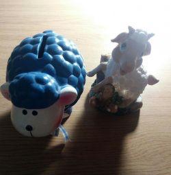 Piggy și figuri decorative