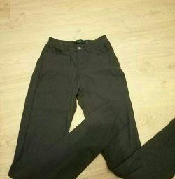 Παντελόνια μαύρων τζιν γυναικών xxs