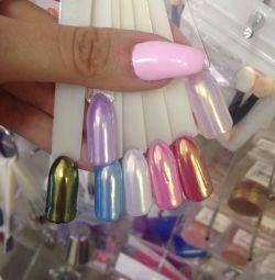 Nail polish rainbow unicorn