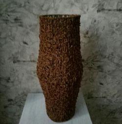 Stylish outdoor vase.