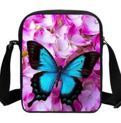 Kelebek desenli şık çanta (3 renk)
