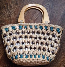 Wicker summer bag
