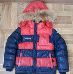Children's down jacket + hat