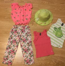 Clothing for girls with packages 104-110