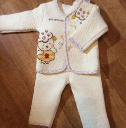Тeплий костюмчик на хлопчика 3-4 місяців. Р-р 66