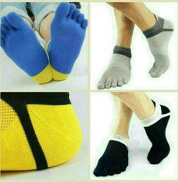 10 κάλτσες αθλητικών δακτύλων