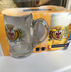 Set of beer mugs, 2 pcs
