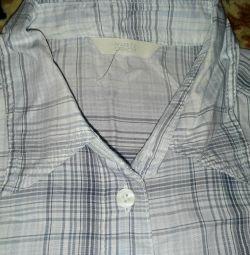 Мужская рубашка р. 44-46 длинный рукав