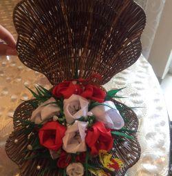 Decoratiuni interioare Flori din panglici