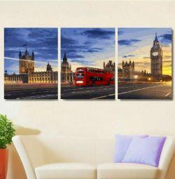 Imagine modulară prin numere Lumini de noapte Londra