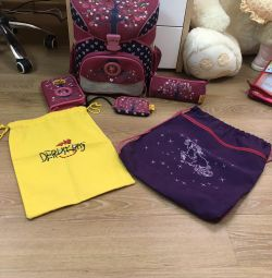 Backpack (Briefcase, satchel) for the girl and filling