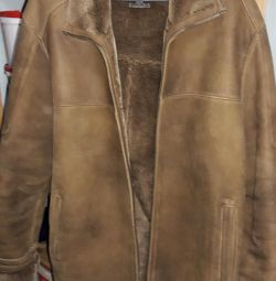 Jacket-sheepskin for men 52-54 sizes.
