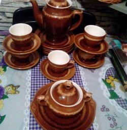 Servicii de ceramică pentru ceai și cafea