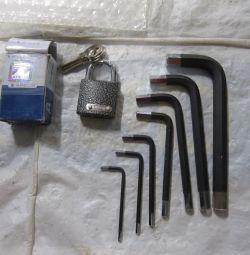 Hex keys apecs Padlock