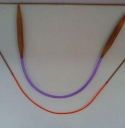 Бамбуковые круговые спицы длиной 40 см