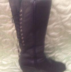 2 perechi de cizme de iarnă! piele autentică și blană, piele de căprioară