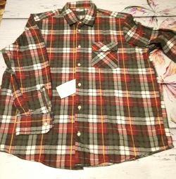 Рубашка 50 размер. Тeплая.