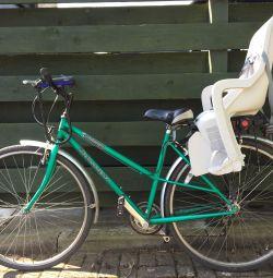 Lady bike with child seat