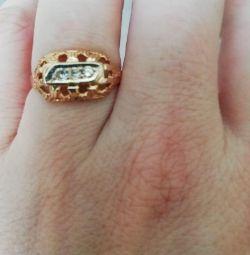 Inel de aur cu diamante