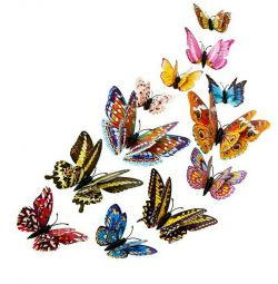 3D, fluturi stralucitoare