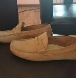 Süet loafer'lar Bata, 39 r.