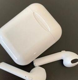 Ασύρματα Airpods TWS I8Plus Ακουστικά Λευκό