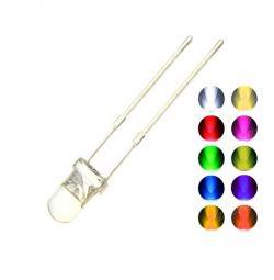 LED με διάμετρο 3mm, 10 χρώματα.