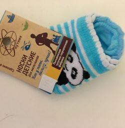 Bebek için bebek çorapları