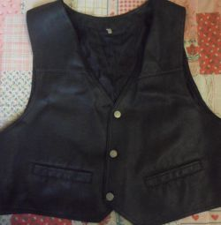Leather Vest on the girl of river 52-54