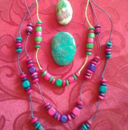 💛 Perlele copiilor din lemn