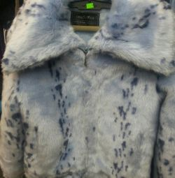 Artificial fur coat