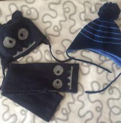 Παιδικό καπέλο για ένα αγόρι, ένα σύνολο Zara, H & M