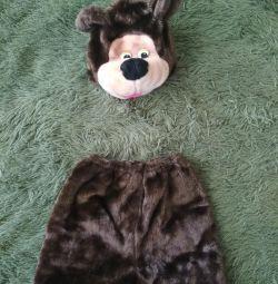 Costum pentru copii pentru un matineu, ursuleț