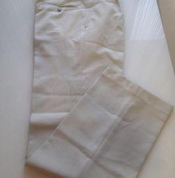 Light-colored pants