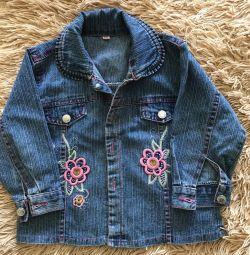 Джинсовая куртка на девочку 1-1,5 годика!