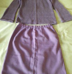 Φούστα μοβ
