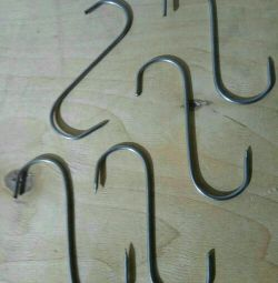 Hooks suspensions for meat. Fish
