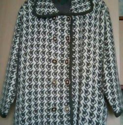 вязанное пальто Размер 52-56