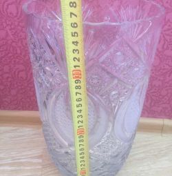 Кришталева велика ваза 60-70 роки