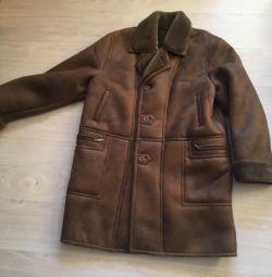 New !! URGENTLY natural men's sheepskin coat