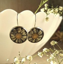 Handmade earrings from natural materials