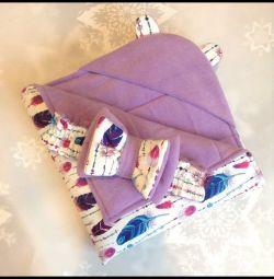 Yeni doğmuş bebek için zarf battaniyesi